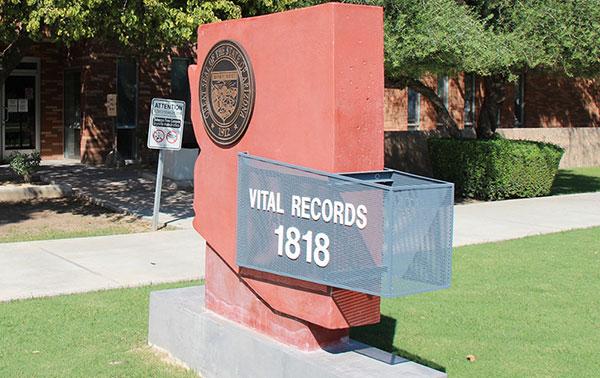 ADHS - Vital Records - Home