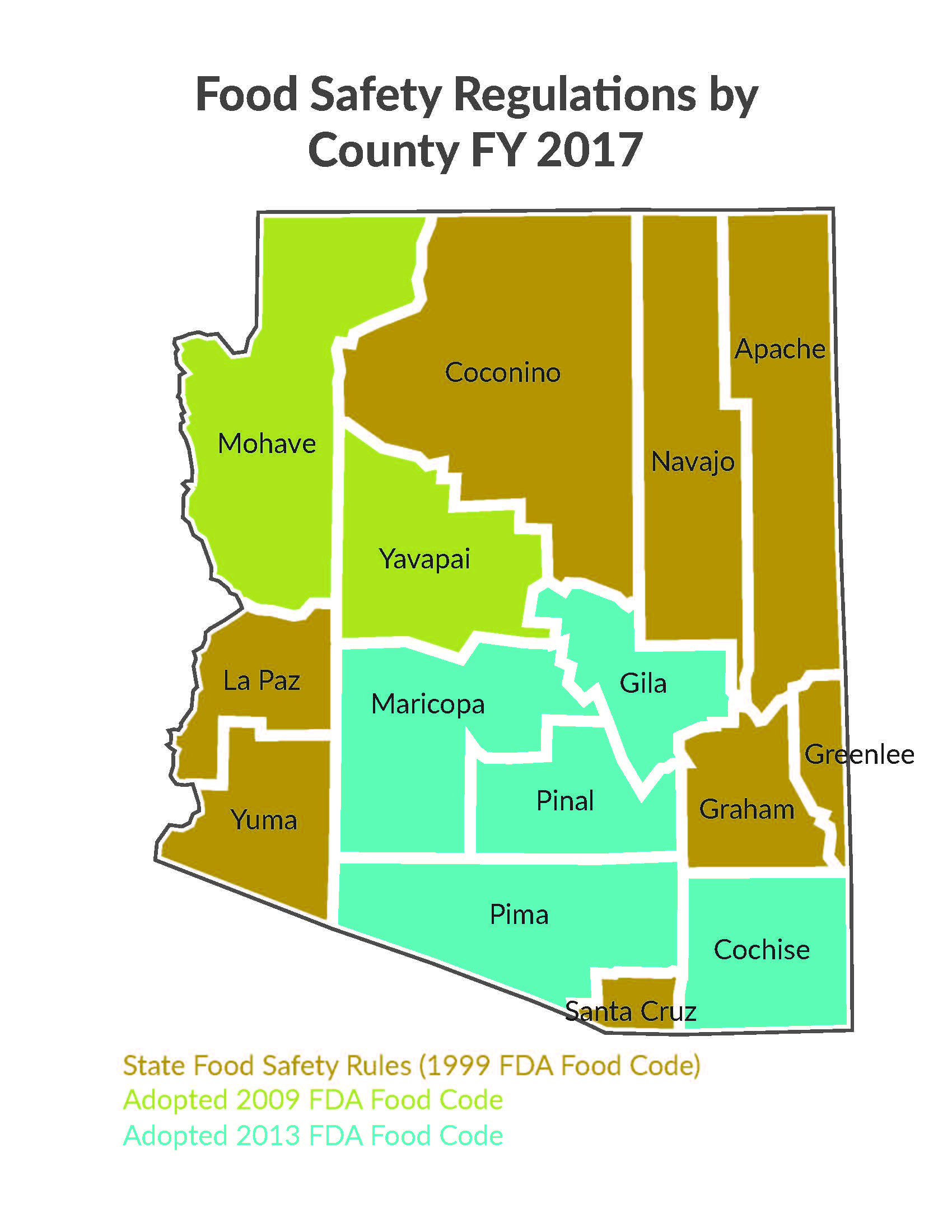 ADHS Food Safety And Environmental Services Arizona Food - Map us foods pheonicx